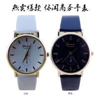 极简设计感 时尚英伦风日内瓦皮带手表 休闲时装中性表 正品防水