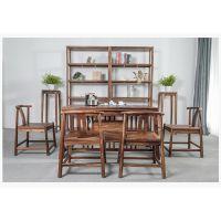 悠然简约现代全实木功夫小茶桌椅组合家用茶艺桌新中式阳台桌茶台