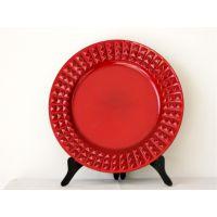 小格子边盘装饰餐具塑料餐具pp材质赣州亿利YF-60867