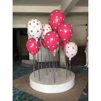 商场户外卡通棒棒糖果气球玻璃钢雕塑幼儿园游乐婚庆景观装饰摆件热气球雕塑