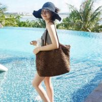 韩版女包包编织包海边沙滩休闲单肩大包袋手提包包新款草编潮流