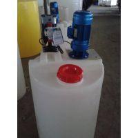 PE材质加厚型100L化工加药箱 实验室专用带刻度塑料搅拌桶
