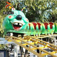 双环青虫滑车游艺设施武汉童星厂家庙会赚钱的儿童户外游乐设备