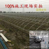 订做浙江 江苏农业火龙果葡萄温室连体大棚拱棚钢架镀锌大棚钢架