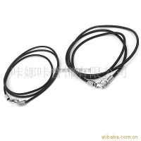 黑色PVC/PU皮绳项链/橡胶绳
