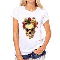 速卖通爆款弗里达·Frida  骷髅头印花女士热卖短袖T恤