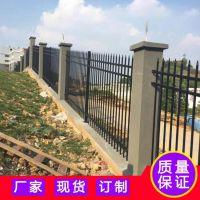 佛山围墙金属栏杆 珠海铁艺防护栏 农业园防爬铁栅栏 围墙护栏