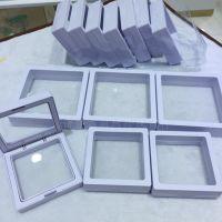 PE薄膜悬浮盒包装盒7*7首饰手链胸花收纳展示盒亚克力透明塑料盒