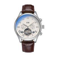 SPIKE手表厂热销外贸新款男士商务金属壳皮带手表