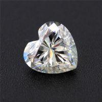 碳化硅心形莫桑石裸石,定制18K金戒指镶嵌