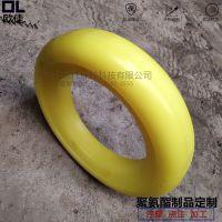道路清扫车配件吸嘴胶轮 黄色聚氨酯橡胶轮 中联龙马扫路车实心轮