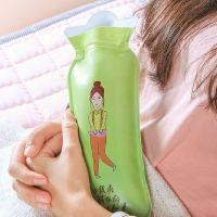 SAFEBET注水式热水袋暖宫暖腰暖脚防爆PVC暖手宝  可爱女孩暖水袋