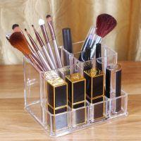 透明亚克力化妆刷粉刷口红桌面收纳筒桶笔筒眉笔整理化妆品收纳盒