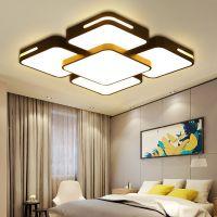 蔓LED吸顶灯遥控简约现代吊灯灯具大厅卧室灯大气家用长方形客厅