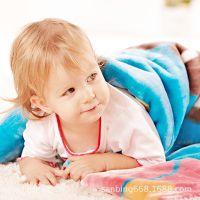 厂家直销双面绒儿童毛巾毯子 点赞排队促销礼品珊瑚绒毛毯 外贸