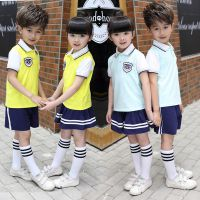 幼儿园园服夏季新款中小学生校服夏天男女儿童纯棉短袖运动班服
