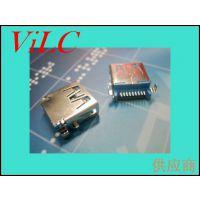 AF90度-3.0 沉板式USB母座-无边 带翅膀 弹片加强 环保耐高温