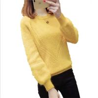 2018尾货特价女装秋冬圆领打底衫 女装韩版针织长袖毛衣批发