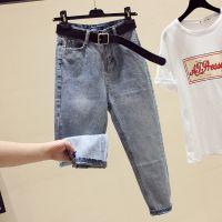 广州尾货韩版牛仔裤2-5元服装批发便宜杂款库存牛仔裤称斤尾货批发厂家
