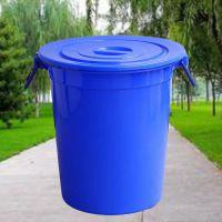 厂家直销100l水桶带盖圆形水桶加厚加深大水桶塑料桶食品级水桶
