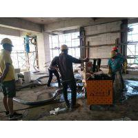 8月14日上海二次构造柱浇筑泵合作中建八局新华街道商业办公项目