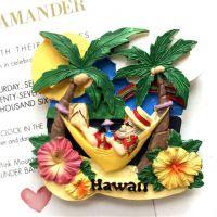 美国夏威夷特色旅游纪念品树脂风景景点冰箱贴磁铁磁贴立体磁性贴