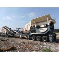 拆迁建筑垃圾处理设备 石料破碎机厂家 移动式反击式破碎机
