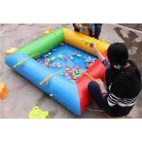 幼儿园户外玩水充气水池 玩水乐园充气摸鱼池规格大小 彩色钓金鱼池高度多少
