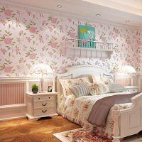 美式田园乡村大花无纺布壁纸客厅卧室餐厅满铺温馨电视背景墙墙纸