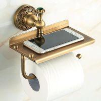 欧式仿古手机架卫生间纸巾盒厕所厕纸架手纸架 浴室免打孔卷纸架