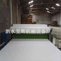 昱辉软包大板皮革贴面机 pvc发泡板热转印贴纸机一体机 板材一道辊覆膜机