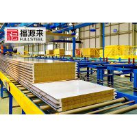 聚氨酯封边夹芯板-福源来定制加工金属幕墙岩棉夹芯板