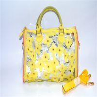 贸易PVC透明防水包 手提斜挎包手拎包购物袋学生包韩版时尚休闲包