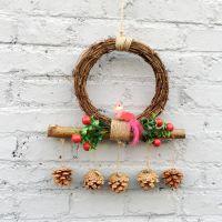 天然干树枝六一儿童节挂饰生日百天幼儿园装饰用品走廊空中吊饰