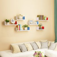 挂壁式洗漱创意收纳墙壁置物架免打孔宿舍粘墙上物品室内壁挂双层