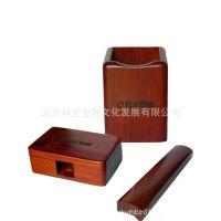 红木三件套  笔筒+名片盒+镇尺套装 实木名片盒 实木镇尺