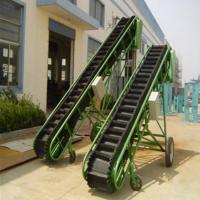 PVC平板式纸箱装车输送机箱装苹果装卸车用输送机铭扬机械