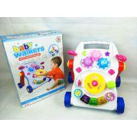 婴儿防侧翻学步车手推车宝宝早教益智多功能逐助步车带音乐玩具