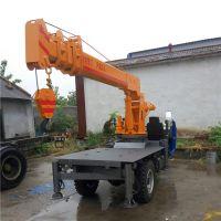 工程建筑小吊车 3吨5吨灵活三轮吊机 五征底盘改装背树吊车