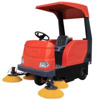 工厂车间用电瓶扫地车,工业园区厂房灰尘粉尘电动清扫车