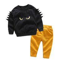 童装外贸品牌 儿童小怪兽休闲套装潮 宝宝可爱家居服一件代发