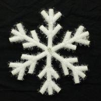 圣诞雪花片平面雪花圣诞节装饰品圣诞雪花串5片雪花贴圣诞树挂件