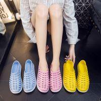 创意透气运动鞋 夏季情侣花园鞋男女 塑料防滑镂空沙滩鞋现货批发
