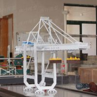 仿真港机岸桥模型定制龙门吊汽车吊工程塔吊模型起重机吊机模型