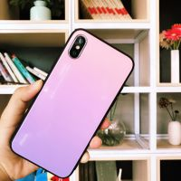 iphoneX手机壳 渐变色玻璃IPHONE 8 PLUS IPHONE7 IPHONE6保护套