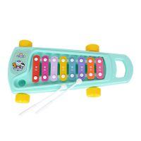 贝芬乐55329海底小纵队的四轮敲琴婴儿启蒙音乐益智玩具8音阶