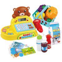 儿童过家家商场收银台玩具 购物车玩具 电动收款机扫锚带麦克风