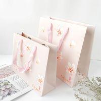 小清新礼品袋粉嫩碎花礼品包装袋购物手提礼物生日节日婚庆伴手礼
