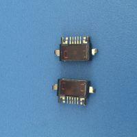 MICRO USB 5PIN前插后贴防水母座M2X12手机防水连接器母座平口-创粤科技