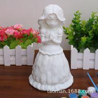 D区大号摔不坏搪胶公仔白坯非石膏陶瓷彩绘娃娃儿童手工DIY白胚